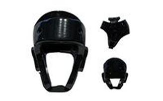 Шлем для таеквондо MATSA MA-1546 (PU,усил.защита ушей,верх.части головы,чёрный)