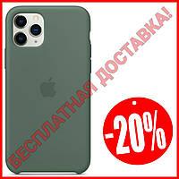 Акция! Силиконовый чехол защитный для Айфона (Pine Green/Зелёный) iPhone 11/11 Про Pro/11 Про Макс Pro Max