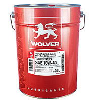 Масло Wolver Turbo Truck 10W-40 кан. 20л