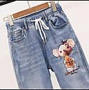 Женский джинсовый костюм с футболкой и рисунком 79ks1052, фото 2