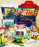 Школьный набор канцтоваров для мальчика Премиум+, 37 предметов+слайм в подарок