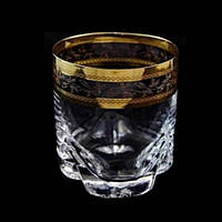 Набор стаканов низких Bohemia Trio 6 штук 280мл d8 см h9 см богемское стекло (25089-133-43081/280)