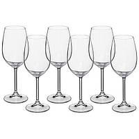 Набір келихів для вина Bohemia Colibri 6 штук 350мл d5,7 см h22 см богемське скло (4S032/350)