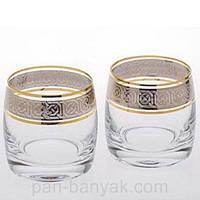 Набор стаканов низких Bohemia Ideal 6 штук 230мл d6,5 см h7,5 см богемское стекло (25015-Q8074/230)