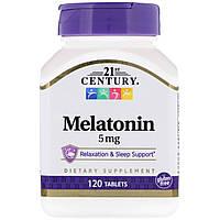ОРИГІНАЛ!21st Century, Мелатонін ,3 мг 120 таблеток виробництва США