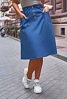 """Юбка женская полубатальная льняная, размеры 50-56 (3цв)""""VLADA"""" купить недорого от прямого поставщика"""