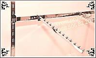 Перемычка пристенная в рейку квадратная хромированная 0,90 см