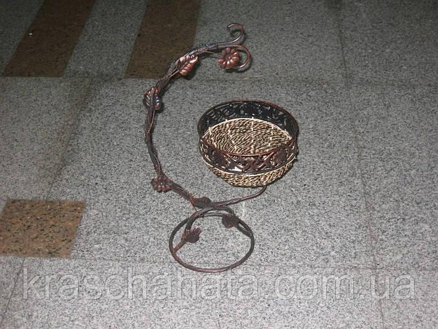 Вазон, плетеный, ротанг, металл, Декор для дома, Днепропетровск