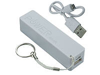 Портативное зарядное устройство Power Bank A5 2600mAh USB1A индикатор заряда Белый  Белый