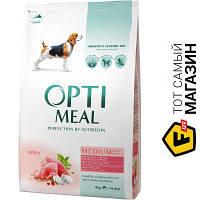 Optimeal Корм со вкусом индейки для средних пород 4 кг