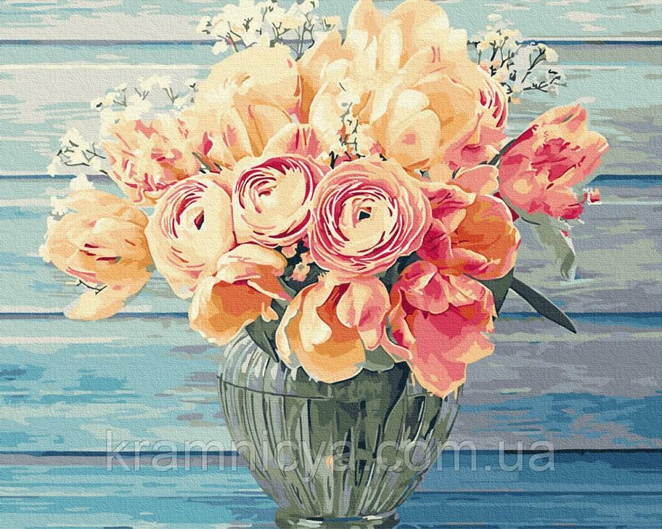 Картина по номерам Нежный букет, Rainbow Art (GX34275) 40х50 см.