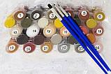 Картина по номерам Пионы в стеклянной вазе, Rainbow Art (GX34830) 40х50 см., фото 6