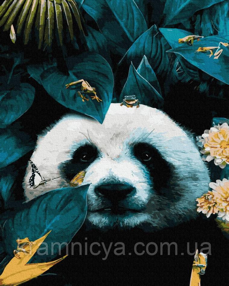 Картина по номерам Панда, Rainbow Art (GX36031) 40х50 см.