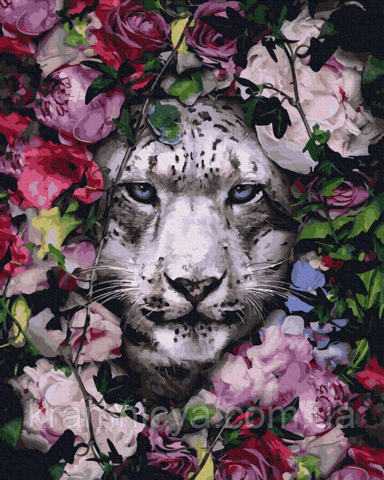 Картина по номерам Снежный леопард, Rainbow Art (GX36065) 40х50 см.