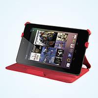 Красный чехол для Asus Google Nexus из синтетической кожи, фото 1