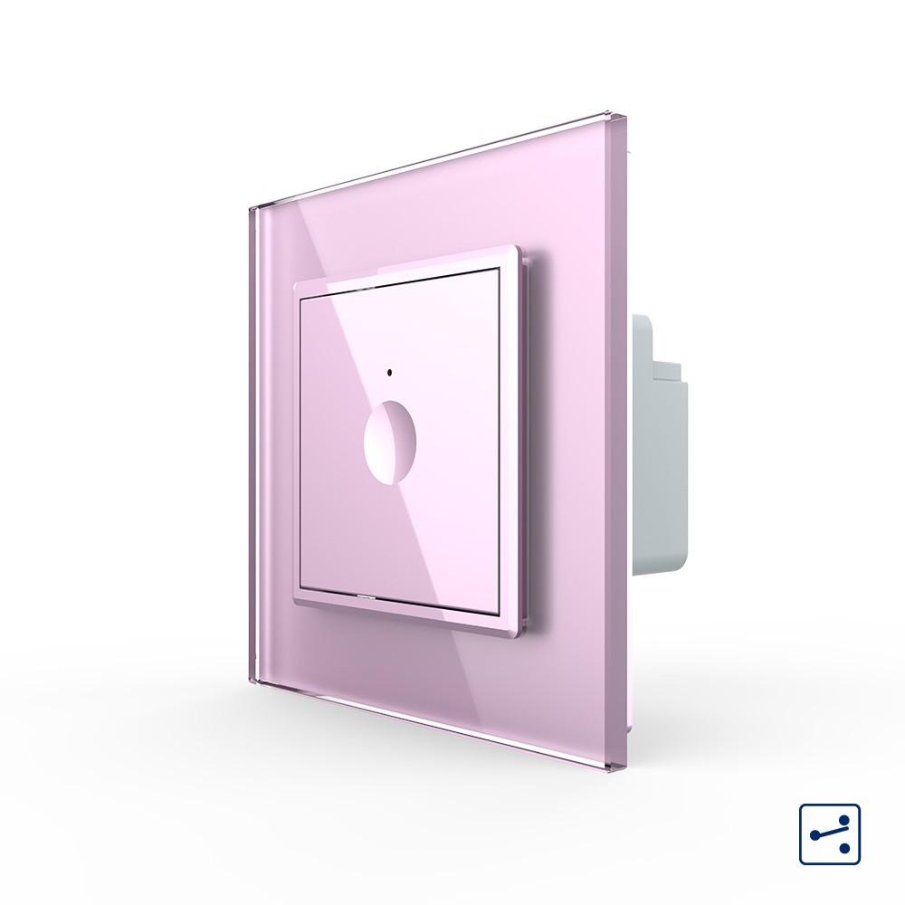 Сенсорный проходной выключатель Livolo Sense розовый (722000317)