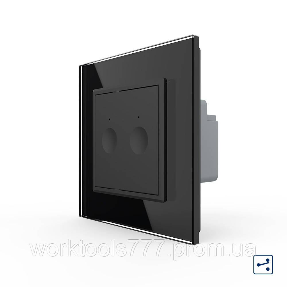 Сенсорный проходной маршевый перекрестный выключатель Livolo Sense 2 канала черный (702000412)
