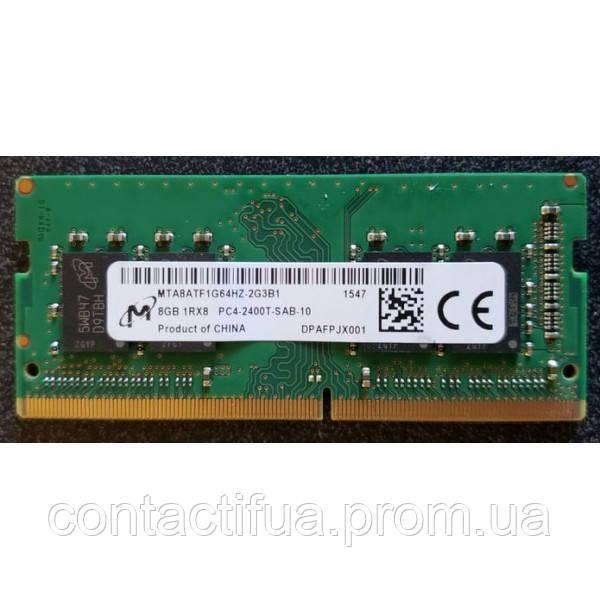 Оперативна пам'ять SO-DIMM Micron 8Gb DDR4 3200MHz (MTA8ATF1G64HZ-3G2J