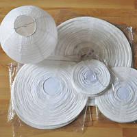 Бумажный подвесной фонарик, белый, 30 см