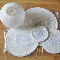Бумажный подвесной фонарик, белый, 25 см