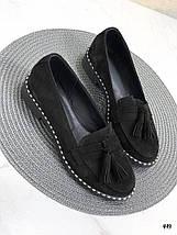 Туфли женские без каблука замшевые, фото 2
