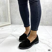 Туфли женские без каблука замшевые, фото 3