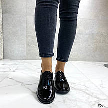 Лакированные туфли женские без каблука , фото 3