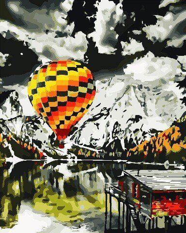 AS0707 Набор для рисования по номерам Полёт на воздушном шаре, В картонной коробке