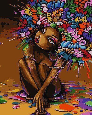 AS0753 Набор для рисования по номерам Разноцветная красота, В картонной коробке