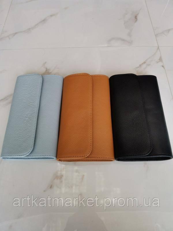 Vera Pelle made in Italy Модный брендовый стильный кожаный женский клатч через плечо