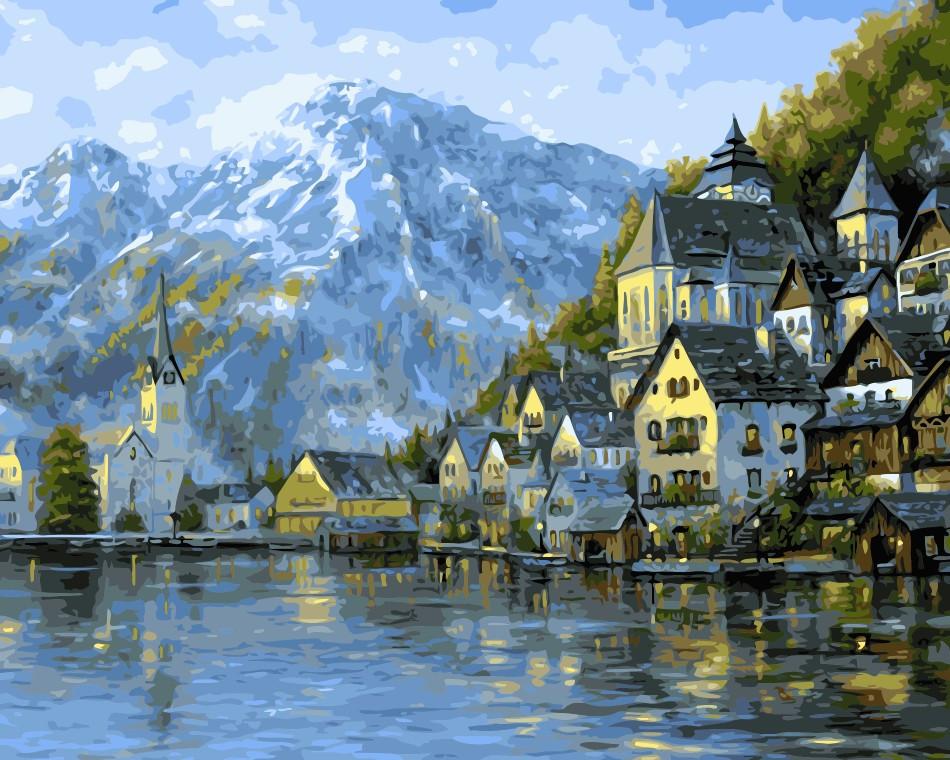 Картина по номерам ArtStory Прекрасная Австрия 40*50 см (в коробке) арт.AS0028