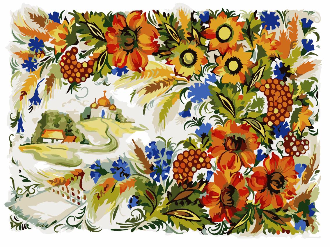 Картина по номерам ArtStory Петриковская роспись 30*40 см (без коробки) арт.AS0217