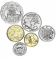 Австралия набор из 6 монет 2000-2012 UNC 5, 10, 20, 50 центов, 1, 2 доллара