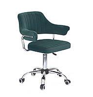 Кресло офисное Onder Mebli Jeff CH-Office Бархат Зеленый В-1003