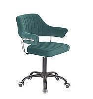 Кресло офисное Onder Mebli Jeff BK-Office Бархат Зеленый В-1003