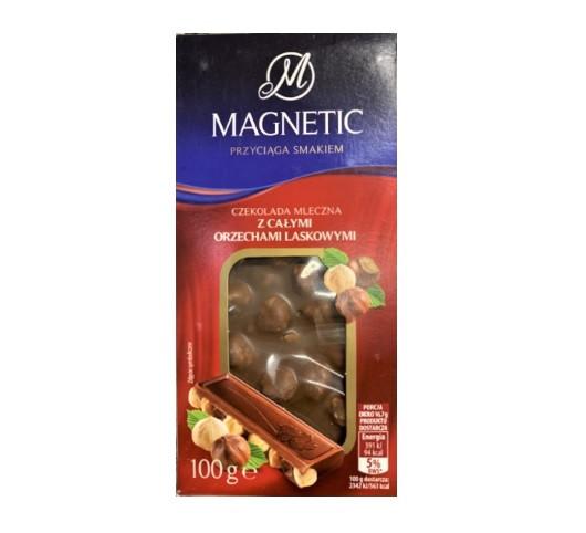 Шоколад молочный  Magnetic с целым фундуком 100 г Польша