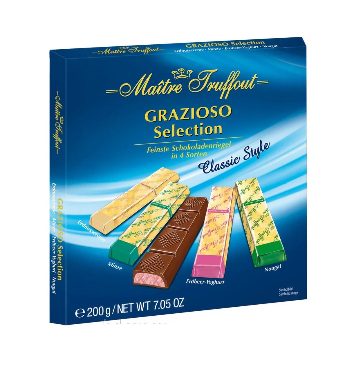 Шоколад черный и молочный Grazioso Selection Classic style Maitre Truffout 200 г Австрия