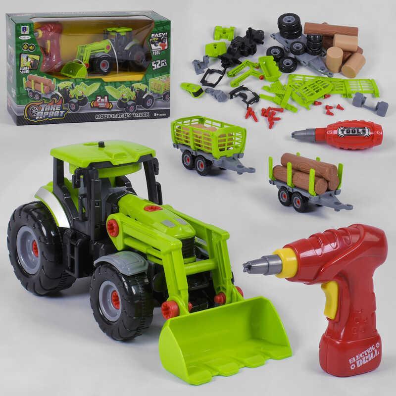 Трактор 661-427 (12) свет, звук, шуруповерт, в коробке