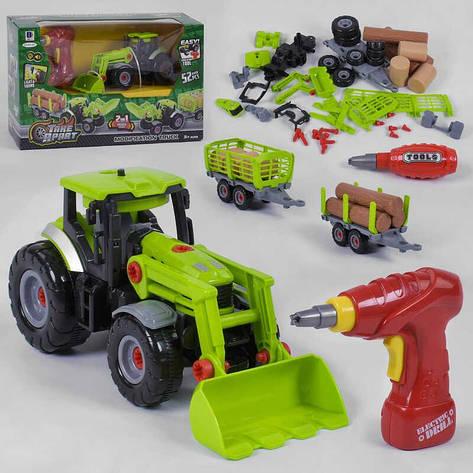 Трактор 661-427 (12) свет, звук, шуруповерт, в коробке , фото 2