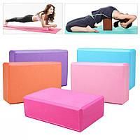 Блок для йоги Gemini йога блок, кирпич для йоги 6 видов расцветки 22.5*15*8