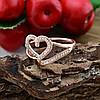 Кольцо Xuping 14815 размер 21 ширина 13 мм вес 2.4 г белые фианиты позолота РО, фото 4
