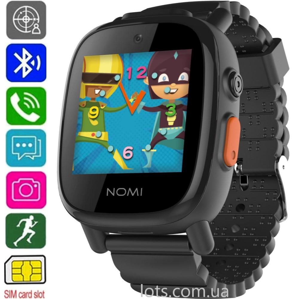 Смарт-часы детские Nomi Kids Heroes W2 (GPS + SIM) Black - Умные Часы