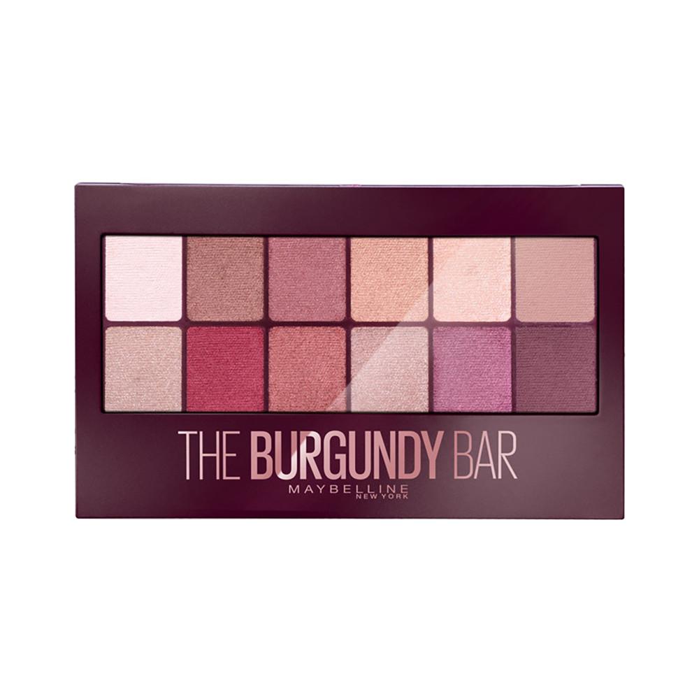 Палетка теней для век Maybelline New York The Burgundy Bar Palette (3600531429911)