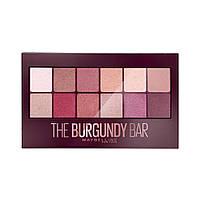 Палетка теней для век Maybelline New York The Burgundy Bar Palette (3600531429911), фото 1