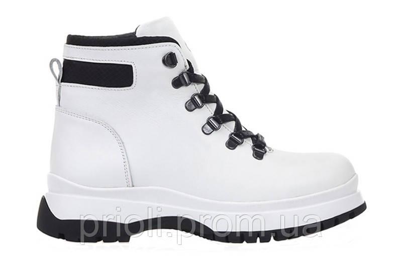Женские зимние ботинки белые оптом
