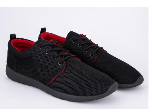 Кроссовки мужские Violeta-1-309-black-red