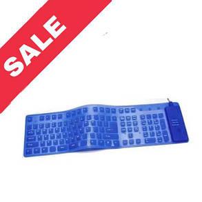 Резинова клавіатура (провідна) Blue, фото 2