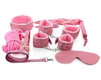 Комплект для BDSM Розовый 8 Элементов для Садо-мазо качество оригинал