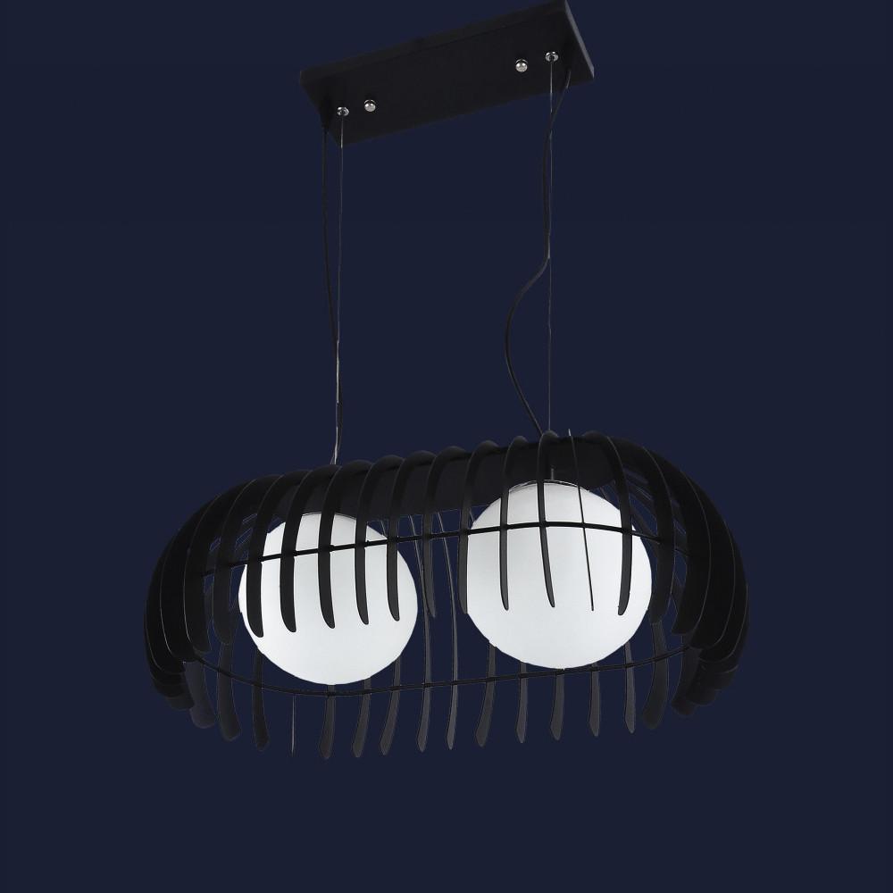 Светильник Loft для прихожей на два плафона цвет черный Levistella&7076104-2 черный