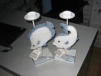 Подсвечник, декоративный, Рыба, Н26 см